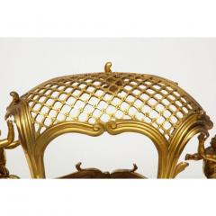 Exceptional Napoleon III French Ormolu Fireplace Log Cradle Holder Centerpiece - 1111880