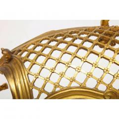 Exceptional Napoleon III French Ormolu Fireplace Log Cradle Holder Centerpiece - 1111881