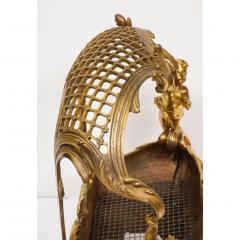 Exceptional Napoleon III French Ormolu Fireplace Log Cradle Holder Centerpiece - 1111882