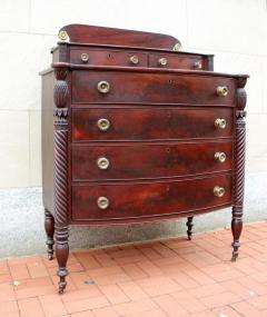 Exceptional North Shore Massachusetts Mahogany Chest c 1820 - 86491