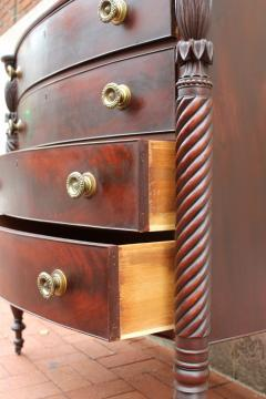 Exceptional North Shore Massachusetts Mahogany Chest c 1820 - 86497