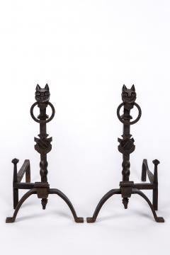 Exceptional pair of cast iron Chevets - 2111710