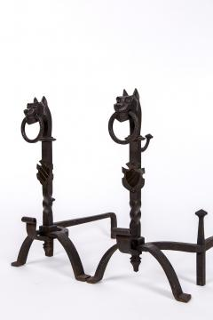 Exceptional pair of cast iron Chevets - 2111711