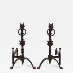 Exceptional pair of cast iron Chevets - 2112608