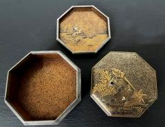 Exquisite Early Japanese Lacquer Kobako Box with Insert Tray - 1822064