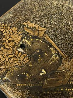 Exquisite Early Japanese Lacquer Kobako Box with Insert Tray - 1822071