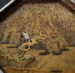 Exquisite Early Japanese Lacquer Kobako Box with Insert Tray - 1822074