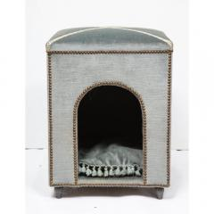 Exquisite French Louis XVI Style Velvet Upholstered Niche de Chien Dog Bed  - 1110864
