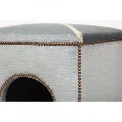 Exquisite French Louis XVI Style Velvet Upholstered Niche de Chien Dog Bed  - 1110867