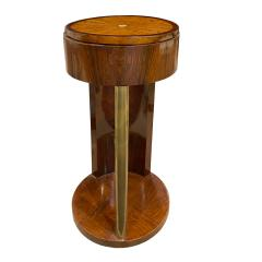 Exquisite French Side Table in Walnut and Bronze 1930s - 1734244