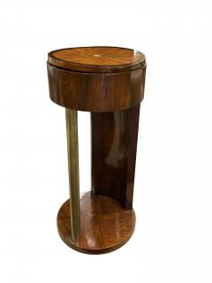 Exquisite French Side Table in Walnut and Bronze 1930s - 1734246