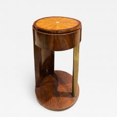 Exquisite French Side Table in Walnut and Bronze 1930s - 1735942