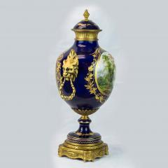 Exquisite Pair of Ormolu Mounted S vres style Porcelain vase - 1435563
