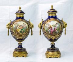 Exquisite Pair of Ormolu Mounted S vres style Porcelain vase - 1435565
