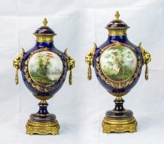 Exquisite Pair of Ormolu Mounted S vres style Porcelain vase - 1435566