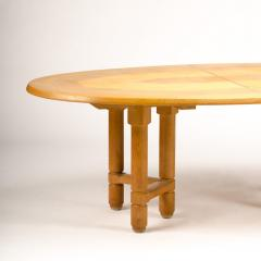 Extendable dining room table in solid oak with two additional leaves - 1661011