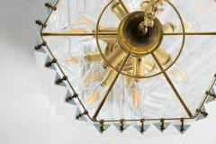 Extra Large Sculptural Lucite and Brass Chandelier c 1970s - 1088904