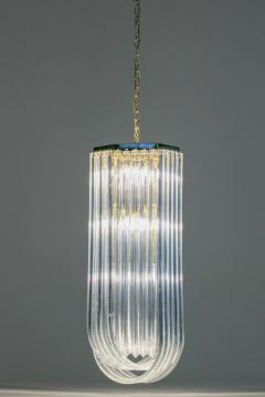 Extra Large Sculptural Lucite and Brass Chandelier c 1970s - 1088905