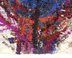 Extra Plush 100 Wool Danish Modern Rya Rug - 374001
