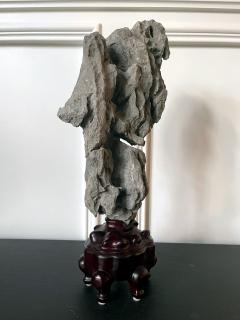 Extraordinary Chinese Scholar Rock Ying Stone on Stand - 1957505