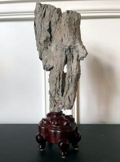 Extraordinary Chinese Scholar Rock Ying Stone on Stand - 1957506