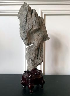 Extraordinary Chinese Scholar Rock Ying Stone on Stand - 1957507
