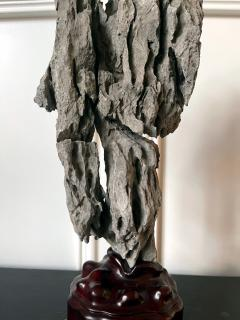 Extraordinary Chinese Scholar Rock Ying Stone on Stand - 1957510