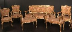 Extraordinary Italian Eleven Piece Gilt Salon Living Room Suite 19th Century - 632657