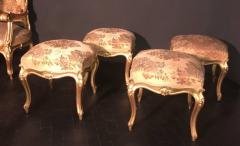 Extraordinary Italian Eleven Piece Gilt Salon Living Room Suite 19th Century - 632658
