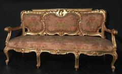 Extraordinary Italian Eleven Piece Gilt Salon Living Room Suite 19th Century - 632662