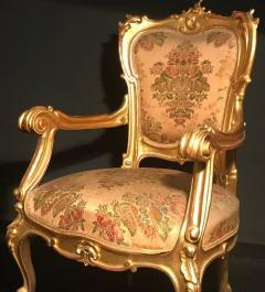Extraordinary Italian Eleven Piece Gilt Salon Living Room Suite 19th Century - 632666