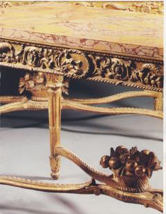 Extraordinary Pair of Italian 18th Century Carved Giltwood Console Tables - 632457