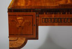 Extraordinary Swedish Grace slant front desk with elaborate inlays - 1357668