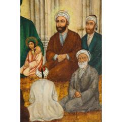Extremely Fine and Rare Islamic Qajar Portrait Painting of Prophet Mohammad - 1217846