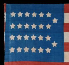 Extremely Rare Cotton Antique American Parade Flag with 26 Stars 11 Stripes - 636693