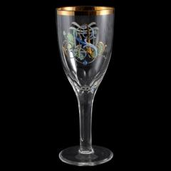 F Heckert 1914 Crystal Presentation Goblet Germany WW1 - 143741