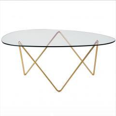 F J Barba Corsini Barba Corsini Pedrera Coffee Table in Brass for Gubi - 1675530