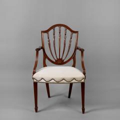 Hepplewhite Shield Back Mahogany Armchair ca 1790 1795  - 11064