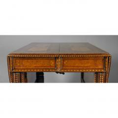 George Ahrens Aesthetic Movement extension table with elaborate inlay - 8536