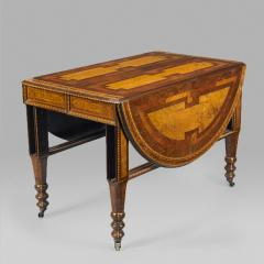 George Ahrens Aesthetic Movement extension table with elaborate inlay - 8542