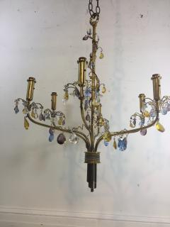 FANCY AUSTRIAN CRYSTAL BEAD AND DROP BRASS CHANDELIER - 1060748