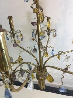 FANCY AUSTRIAN CRYSTAL BEAD AND DROP BRASS CHANDELIER - 1060752