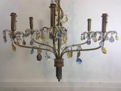 FANCY AUSTRIAN CRYSTAL BEAD AND DROP BRASS CHANDELIER - 1060755