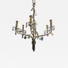 FANCY AUSTRIAN CRYSTAL BEAD AND DROP BRASS CHANDELIER - 1061590