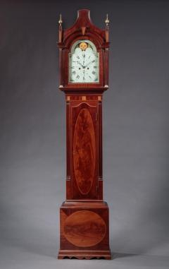 FEDERAL INLAID TALL CASE CLOCK Signed Hawxhurst and DeMilt - 1046837