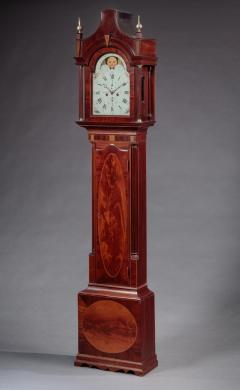 FEDERAL INLAID TALL CASE CLOCK Signed Hawxhurst and DeMilt - 1046838