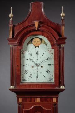 FEDERAL INLAID TALL CASE CLOCK Signed Hawxhurst and DeMilt - 1046839