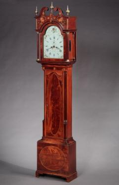FEDERAL INLAID TALL CASE CLOCK Works by E Massey Newcastle England - 1034574