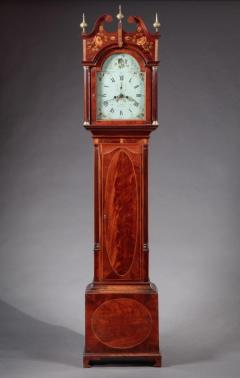 FEDERAL INLAID TALL CASE CLOCK Works by E Massey Newcastle England - 1034575