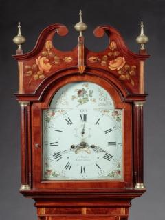 FEDERAL INLAID TALL CASE CLOCK Works by E Massey Newcastle England - 1034576